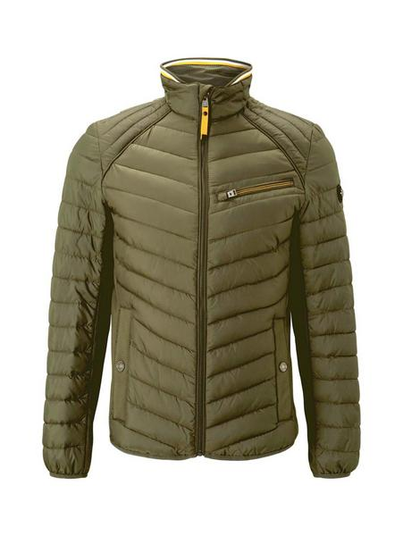 material mix hybrid jacket, Olive Night Green