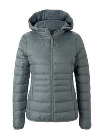 light weight puffer jacket, grey mint