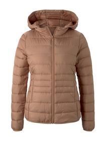 light weight puffer jacket, clay rose