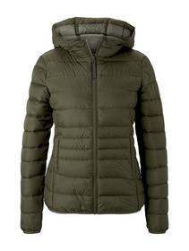 light weight puffer jacket, deep olive green