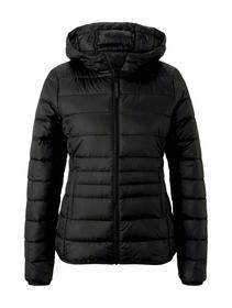 light weight puffer jacket, deep black