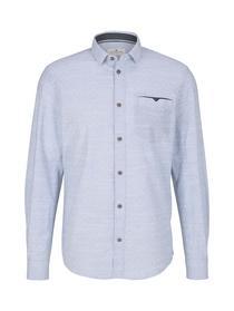 regular dobby shirt, white light blue structure