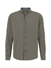 regular vichy shirt, blue yellow navy small check