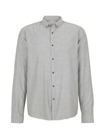 striped twill shirt, navy two tone twill stripe