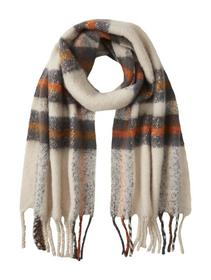 cosy brushed color block scarf