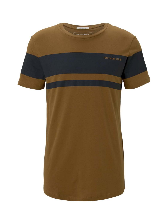 T-shirt with blockstripe