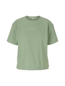 new boxy tee with embro, light mint green