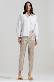 Tapered Pants in Leder-Optik, greige