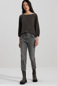 Oversize-Blusenshirt, greenish grey