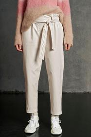 Paperbag-Pants in Leder-Optik, panna cotta