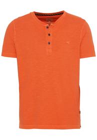 Kurzarm T-Shirt mit Henley-Kragen aus Organic Cotton