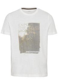Kurzarm T-Shirt mit platziertem Fotoprint
