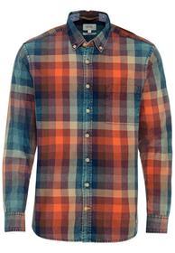 Langarm Hemd mit Button-Down-Kragen