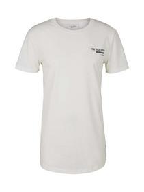 T-shirt with chestprint, Soft Light Beige Melange