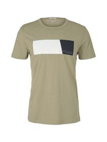 T-shirt with print, Silver Olive