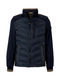 decorated hybrid jacket, Sky Captain Blue
