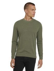 basic structure sweater, bleak green melange