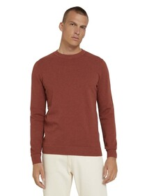 basic structure sweater, spicy chocolate melange