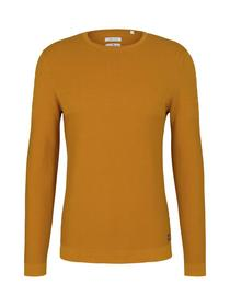 modern structured sweater, Flame Brown