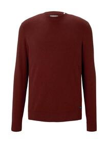modern structured sweater, spicy chocolate melange