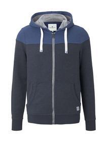 colorblock zipper jacket