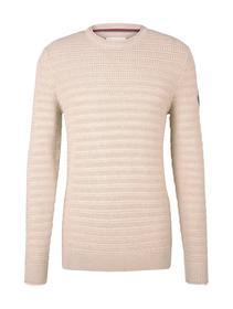 structured crew neck sweater