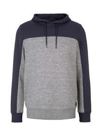 Hoody w. cutlines, Blueish Grey