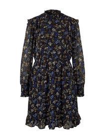 mini dress with volants - 28341/black blue flower