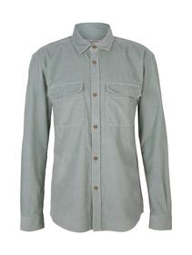 relaxed corduroy shirt, white moss