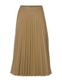 fake leather pliss. skirt - 27474/soft camel