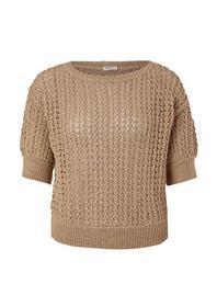 Pullover kurzarm - 8403/WARM SAND