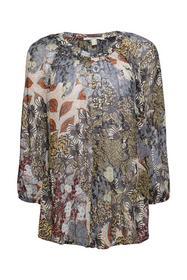 Chiffon-Bluse mit Top und Botanik-Print