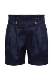 Aus 100% Leinen: Shorts mit Paperbag-Bund
