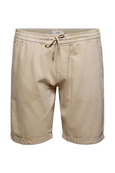 Baumwoll-Shorts mit Gummibund
