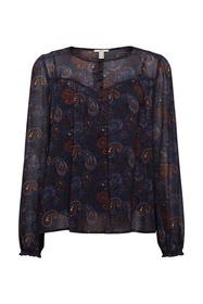 Recycelt: Chiffon-Bluse mit Paisley-Print
