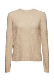 Mit Wolle: Pullover mit Zopstrickmuster