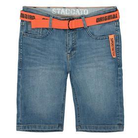 Kn.-Jeans-Bermudas + Gürtel