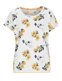 T-Shirt, melange, AOP