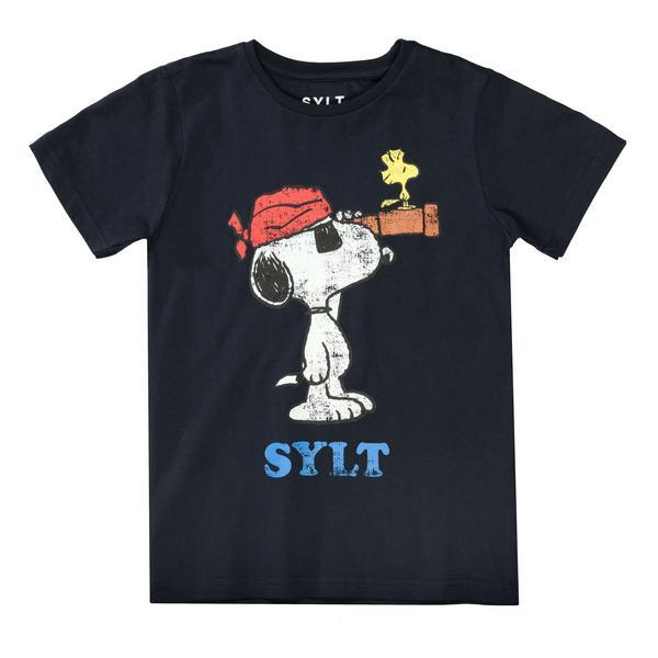 Da.-T-Shirt Snoopy Fernglas