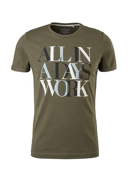 T-Shirt kurzarm, khaki/oliv