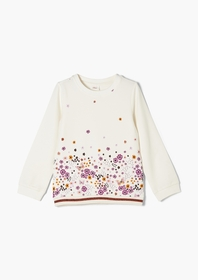 Sweatshirt langarm, off-white