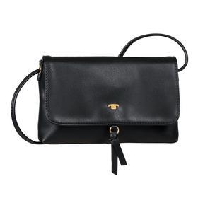 LUNA Flap bag, black
