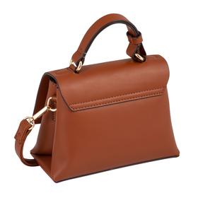 DARIA Flap bag, cognac - 22/cognac