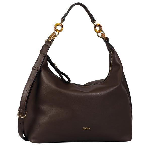 MARIAN Hobo bag, dark brown - 28/dark brown