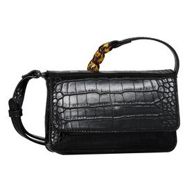 MARIS Flap bag, croco black