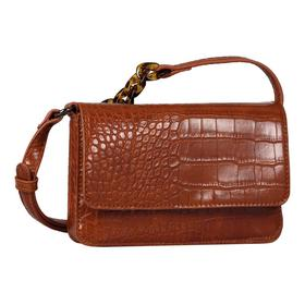 MARIS Flap bag, croco cognac