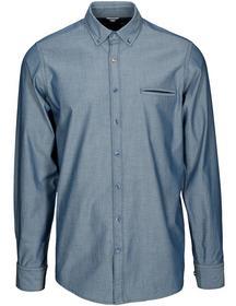 Basefield Freizeithemd mit Dot Print - Shadow Blue Größe: XXL