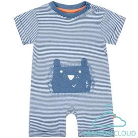 Kn.-Overall - 653/JEANS MEL.STR.
