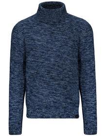 Rollkragen Pullover - 606/DENIM BLUE