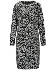 Staccato FRY DAY Sweat-Kleid mit Leoprint
